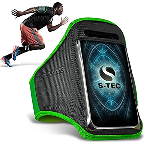 HTC REZOUND Armbands - ( Green ) Universal Sports Running Action Mobile Phone Armband Holder ( HTC REZOUND fasce da braccio - ( verde ) Sport universale in esecuzione azione cellulare titolare con fascia da braccio )