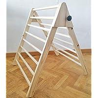 Triángulo de Pikler, Triángulo escalonado, Escalera para niños pequeños, Triángulo de escalada para niños pequeños.