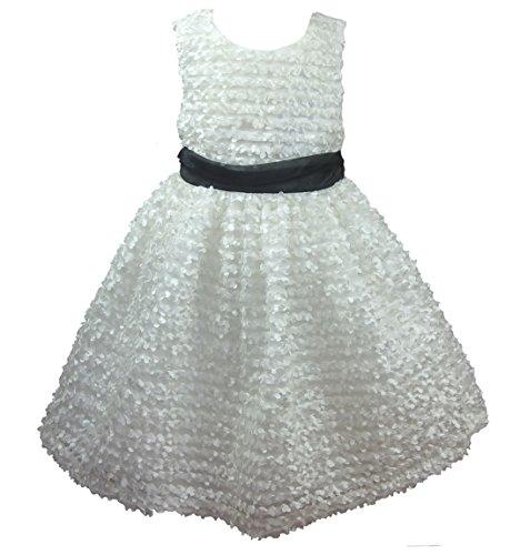 Rare Editions Kleid (Traumhaftes 3D Petticoat Kleid in ivory von Rare Editions Gr. 98 Größe 98)
