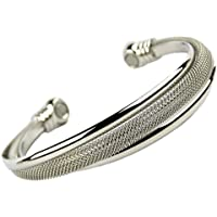 Damen Edelstahl Twisted Mesh Stil Armreif/Armband by sisto-x ® Chrom Gesundheit Stärke 2Magnete preisvergleich bei billige-tabletten.eu