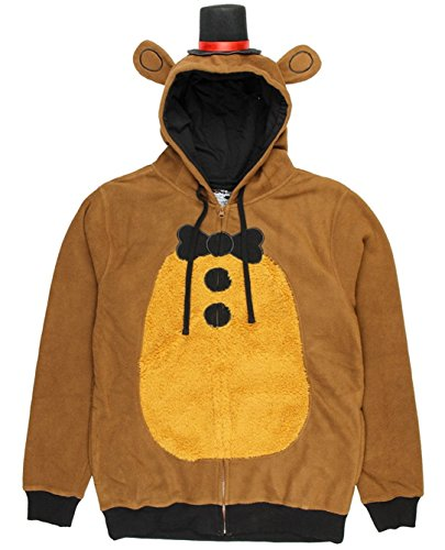 Five Nights at Freddy's Adult Freddy Fazbear Hoodie: Small (Freddy Fazbear Kostüm)