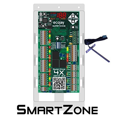 SmartZone-4X Control - 4 zone controller KIT w/ Temp sensor - Universal Replacement for honeywell zoning panel truezone hz432 & more by ECOJAY SmartZone -