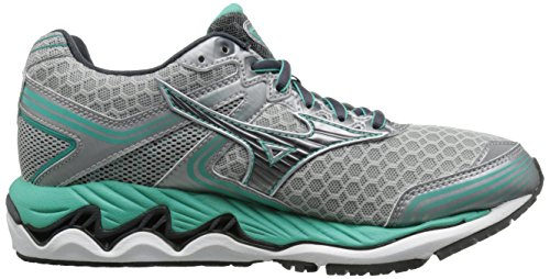 Mizuno Wave Paradox II Large Synthétique Chaussure de Course Silver-Dark Shadow