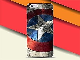 STAR WARS AND MARVEL ;trasparente in poliuretano termoplastico per iPhone-Cover per Apple iPhone 5, 5S, 5C, 6/6S ,7 (iphone 5/5s, Captain America-Shield)