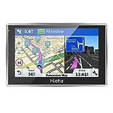7 Zoll 8GB Navigationsgerät Touchsreen GPS Navi Navigationssystem PKW Auto KFZ LKW Wince HIEHA Navigation Kostenloses Kartenupdate Blitzerwarnungen POI Fahrspurassistent IQ Routes EU Map Karte (7Zoll)