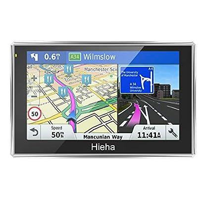7-Zoll-8GB-Navigationsgert-Touchsreen-GPS-Navi-Navigationssystem-PKW-Auto-KFZ-LKW-Wince-HIEHA-Navigation-Kostenloses-Kartenupdate-Blitzerwarnungen-POI-Fahrspurassistent-IQ-Routes-EU-Map-Karte-7Zoll