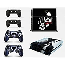 Skin adhesivo de vinilo de Dark Joker de batman de GNG para la consola PS4 + set de 2 skins para los controladores