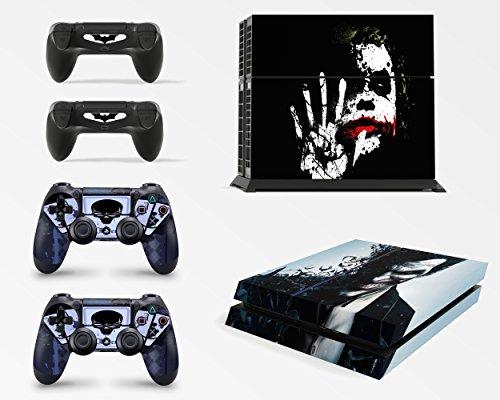 Gizmoz n Gadgetz GNG Adesivi in Vinile per PS4 con Il Logo di Dark Joker 3 per Console E per 2X Controllers