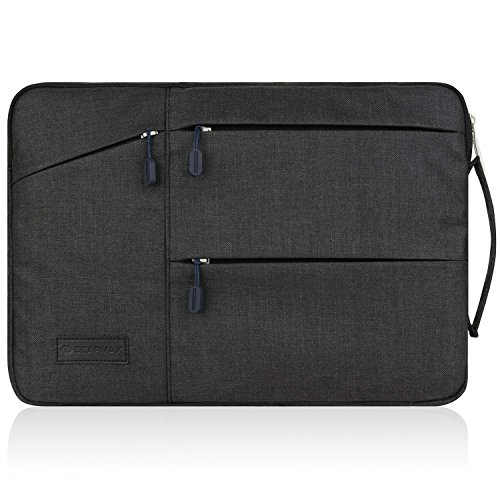 13 In Laptop Sleeve (WIWU 13 Zoll Laptop Sleeve Ultrabooks Hülle Tasche Multifunktionale Aktentasche mit Vordertaschen Leichte Nylon Schutzhülle für 13,3