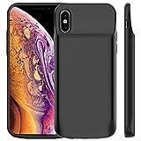Coque Batterie iPhone XS/X, Vobon 6000mAh Chargeur Batterie Externe Magnétique Portable Rechargeable Coque Chargeur de Protection pour Apple iPhone XS/X [5.8 Pouces] (Noir)