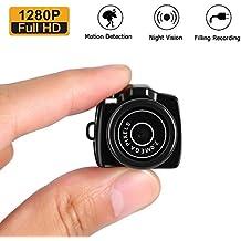 Mini Caméra Espion 1280P HD Camera de Surveillance Portable LESHP Mini Webcam Caméscope Sans Fils pour Sécurité de Famille Petite Caméra Enregistreur Vidéo DVR Webcam pour la Sécurité