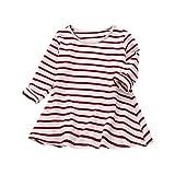 Babykleidung Mädchen Kleider,Sunday Kleinkind Mädchen Gestreift Langarm Kleid T-Shirt Kleid Herbst Winter Kleidung Outfits