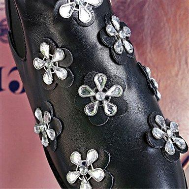 GLL&xuezi Da donna Stivaletti Innovativo Stivaletti alla caviglia Finta pelle Autunno Inverno Matrimonio Casual Formale Serata e festaCon brown