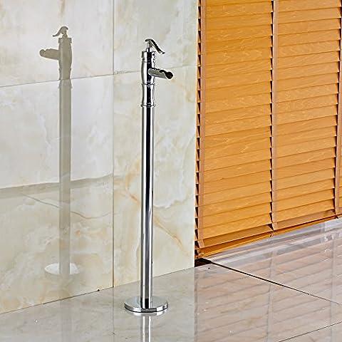 Rozinsanitary doccia da pavimento Miscelatore vasca da bagno, finitura cromata, per vasca da bagno con miscelatore, rubinetto miscelatore a leva singola
