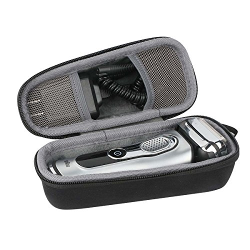 co2CREA Storage Travel Organizer Hard Case for Braun Series 5 7 9 790cc-4 7898cc 799cc 720s-4 9290cc 9090cc 9075cc 9095CC 9040s 5040 5050cc 5030s Men's Electric Foil Shaver Razor Trimmer fits Charger Adapter Test