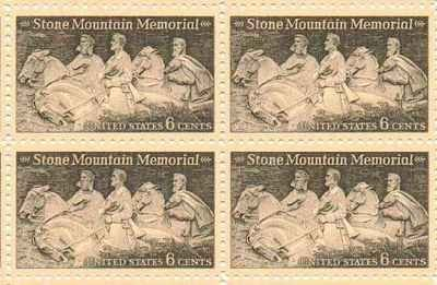 stone-mountain-memorial-set-of-4-x-6-cent-us-postage-stamps-new-scot-1408-by-us-postage-stamps