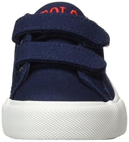Ralph Lauren Slater Ez, chaussons d'intérieur mixte enfant Blau (Navy Canvas w/ Red pp)