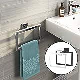 DDOQ utile Porta Asciugamani a Muro in Acciaio Inox con portasalviette Moderno Porta Accessori da Bagno (Colore : Black)