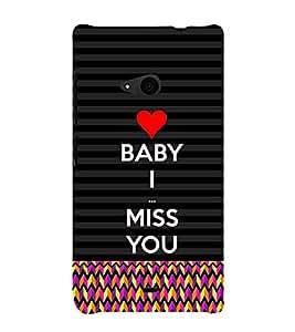 Fiobs Designer Back Case Cover for Microsoft Lumia 535 :: Microsoft Lumia 535 Dual SIM :: Nokia Lumia 535 (Multicolor Multipattern Black Love Baby Miss)