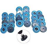 Disques à lamelles, 2 pouces 50mm Disques abrasifs à lamelles, Grain 40/60/80 Disque de vadrouille, 30 pièces