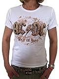 AC/DC Tour T-Shirt Rock or Bust, Damen (weiß, M)