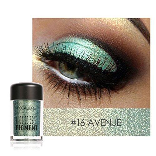 Hukz Perlglanzschattenpulver-Focallure 12 Farben Lidschatten Makeup Perle Metallic...