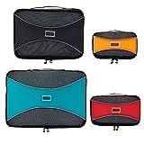 PRO Packing Cubes | Ensemble économique de sacs de rangement de voyage 4 pièces | Sacs économisant 30% de place | Organiseurs de bagage ultralégers | Idéal pour les sacs de voyage & valises de cabine