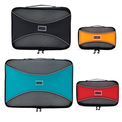 PRO Packing Cubes Packtaschen, Reise Kleidertaschen, Packwürfel, Reisetasche in Koffer, Koffertasche,Wäschebeutel, Schuhbeutel, Ultra-leichte Aufbewahrungstasche, 4-teiliges Set