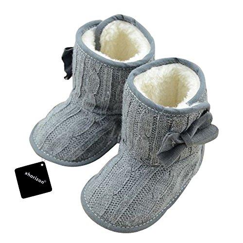 xhorizon TM FLX Madchen Baby Kids Bow Knit Woll Warm Weich Winter-Kleinkind Stiefel Schuhe Geschenk