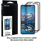 """CZAR Duraglass Edge to Edge Tempered Glass Screenguard for iPhone Xs Max (6.5"""") High Durablility - Smoothest Screen Protector by CZARTECH (Pack of 2)"""