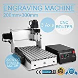 HPcutter CNC Router Machine Wood Engraving Machine Engraver Machine 3020T 3 Axis Arts Crafts Cutting Tool (3020T 3 Axis)