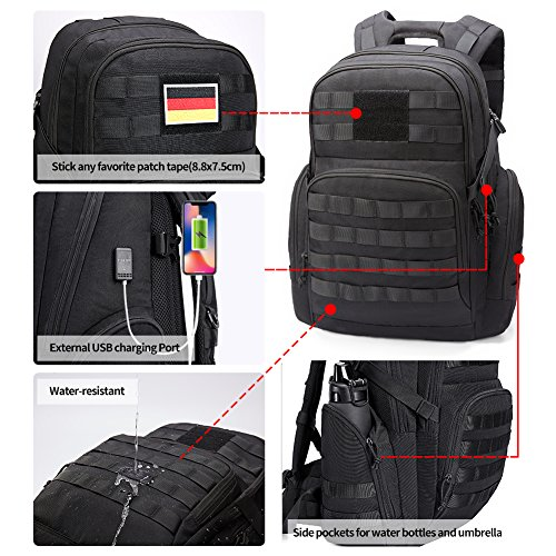 51AvdqI2v0L. SS500  - KALIDI 35L Military Tactical Backpack Rucksack with USB Charging Port for Outdoor Hiking Camping Trekking
