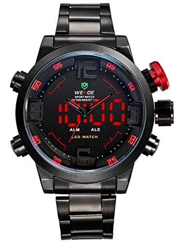 Alienwork DualTime Herren-Armbanduhr