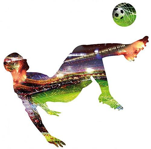 Preisvergleich Produktbild 1art1 88410 Fußball - Fallrückzieher Wand-Tattoo