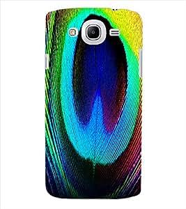 ColourCraft Peacock Feather Design Back Case Cover for SAMSUNG GALAXY MEGA 5.8 I9150