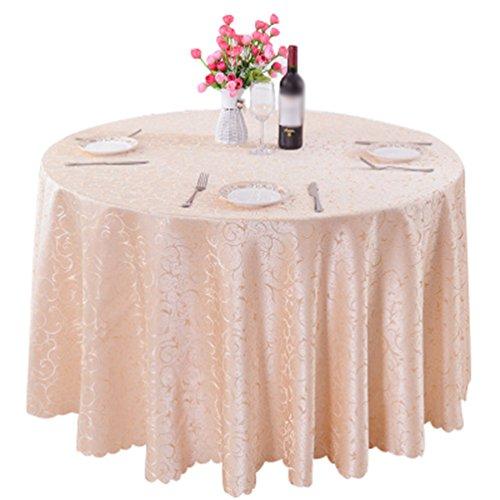 Heheja Rond Rectangulaire Carré Nappe de Table Restaurant fête Satin Nappe Champagne 160*160cm