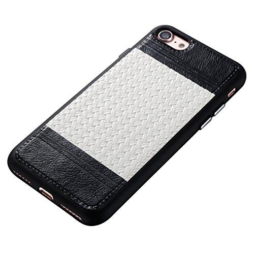 Étui en gel doux iPhone 8, Coque iPhone 7, Lifetrut Ultra Mince Doux [Motif en cuir] Housse en Caoutchouc TPU pour iPhone 8/ iPhone 7 [01] E203