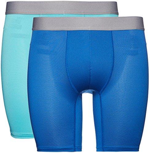 Marca Amazon - find. Bóxer Largos de Deporte para Hombre, Pack de 2, Azul Turquoise/Worker Blue...