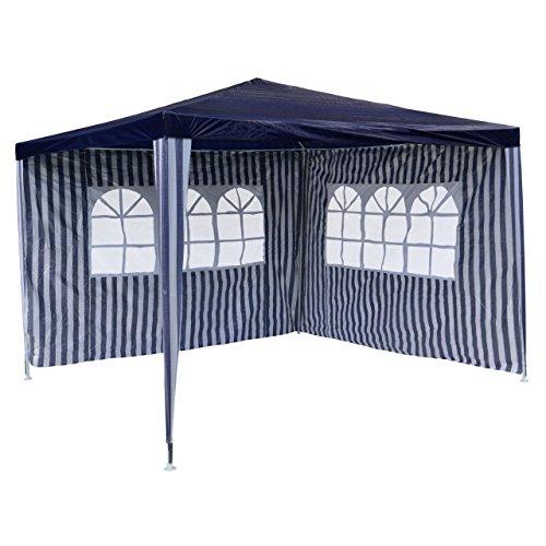PE-Pavillon Partyzelt mit 2 Seitenteilen für Garten Terrasse Markt Camping Festival als Unterstand...