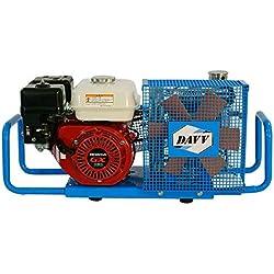 Davv 100L/min 5.5-hp fonctionnant au gaz muni Compresseur d'air 4500psi Essence disque Air station de remplissage, Scu100p