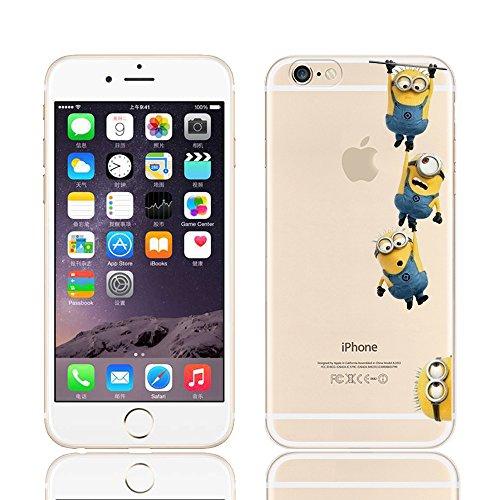 Coque souple pour Apple iPhone 4/4S, 5/5S/SE, 5C, 6/6S et 6Plus Motif Minion, plastique, 4 MINIONS, APPLE IPHONE 6+