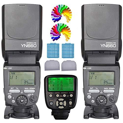 Yongnuo YN660 Blitzgerät Blitz Speedlite + YN560TXII C kabellose Auslöser Funkauslöser für Canon EOS Digital SLR Kemera 5D 7DII 7D 6D...