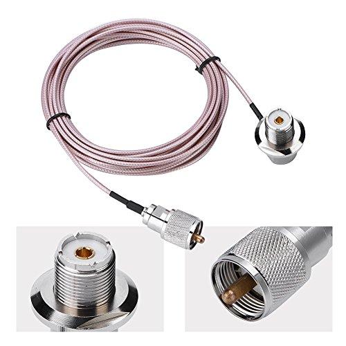 Zerone 5m/16ft Antenne Verlängerung Kabel Koaxial UHF-PL-259-Stecker auf Buchse Kabel Sockel Adapter für mobile Radio Antenne - Pl-259-adapter