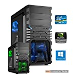 Gamer PC System Intel, i7-8700K 6x3,7 GHz, 16GB DDR4 RAM, 2000GB HDD, nVidia GTX1080 -8GB, inkl. Windows 10 (inkl. Installation) Gaming Computer Büro Multimedia dercomputerladen