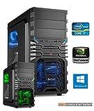 Gamer PC System Intel, i7-7700K (Kaby Lake) 4x4,2 GHz, 8GB DDR4 RAM, 2000GB HDD, nVidia GTX1050 Ti -4GB, inkl. Windows 10 (inkl. Installation) Gaming Computer Büro Multimedia dercomputerladen