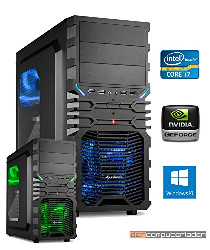 Gamer PC System Intel, i7-7700K (Kaby Lake) 4×4,2 GHz, 16GB DDR4 RAM, 2000GB HDD, nVidia GTX1060 -6GB, Windows 10 Gaming Computer Büro Multimedia dercomputerladen 51AvggZEqXL