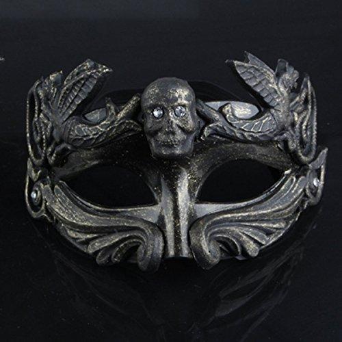 ZAIYI Männer Masken Halloween Tanzen Masken Halloween Skelett Horror Maske Persönlichkeit Halbe Gesichtsmaske (Up Skelett Halb Gesicht Das Make)