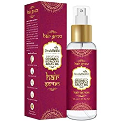 Simply Herbal Morrocan Argan Total Repair Instant Smoothing Hair Serum For Frizzy Hair to Dry Hair Enriched With Jojoba And Almond 50ml (1 Bottle)