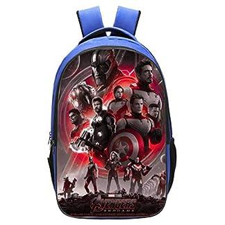 WNUVB Mochila De Superhéroe con Estampado 3D Poliéster De Dibujos Animados para Niños De Avengers 4 Schoolbag – 42cm * 29cm * 16cm