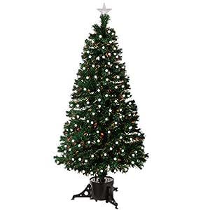 werchristmas sapin de no l lumineux en fibre optique avec lumi res led givr berry vert blanc. Black Bedroom Furniture Sets. Home Design Ideas